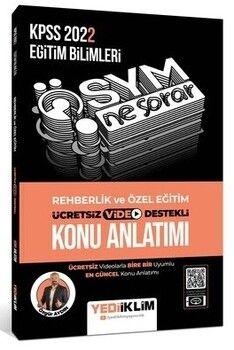 Yediiklim Yayınları 2022 KPSS Ösym Ne Sorar Rehberlik ve Özel Eğitim Video Destekli Konu Anlatımı