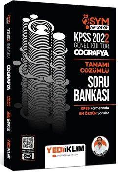 Yediiklim Yayınları 2022 KPSS Genel Kültür Ösym Ne Sorar Coğrafya Tamamı Çözümlü Soru Bankası