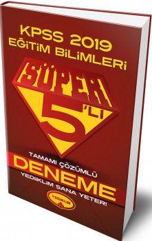 Yediiklim Yayınları 2019 KPSS Eğitim Bilimleri Süper 5 li Tamamı Çözümlü Deneme