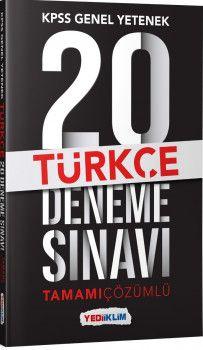 Yediiklim Yayınları Kpss Genel Yetenek Türkçe Tamamı Çözümlü  20 Deneme Sınavı