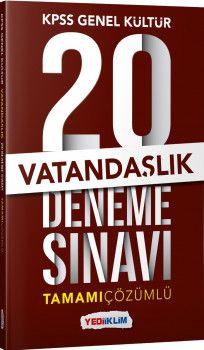 Yediiklim Yayınları Kpss Genel Kültür Vatandaşlık Tamamı Çözümlü  20 Deneme Sınavı