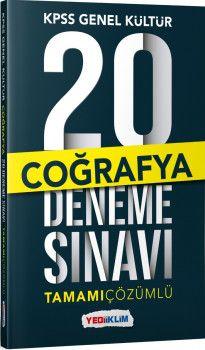 Yediiklim Yayınları Kpss Genel Kültür Coğrafya Tamamı Çözümlü  20 Deneme