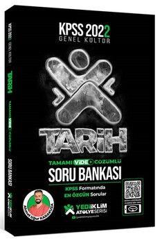 Yediiklim Yayınları 2022 KPSS Genel Kültür Atölye Serisi Tarih Tamamı Video Çözümlü Soru Bankası