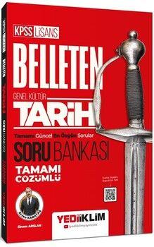 Yediiklim Yayınları KPSS Genel Kültür Belleten Tarih Tamamı Çözümlü Soru Bankası