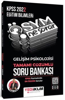 Yediiklim Yayınları 2022 KPSS Eğitim Bilimleri Ösym Ne Sorar Gelişim Psikolojisi Tamamı Çözümlü Soru Bankası