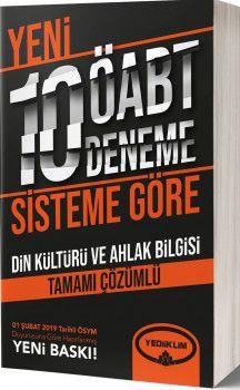 Yediiklim Yayınları ÖABT Din Kültürü ve Ahlak Bilgisi Tamamı Çözümlü Yeni Sisteme Göre 10 Deneme