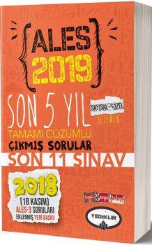 Yediiklim Yayınları 2019 ALES Sayısal Sözel Yetenek Son 5 Yıl Tamamı Çözümlü Çıkmış Sorular