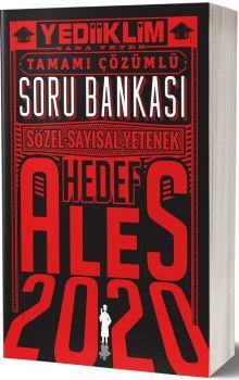 Yediiklim Yayınları 2020 ALES Tamamı Çözümlü Hedef Soru Bankası