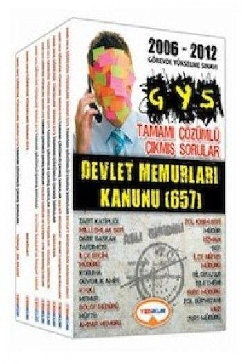 Yediiklim Yayınları GYS Tamamı Çözümlü 2006 - 2012 Çıkmış Sorular