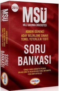 Yediiklim Yayınları MSÜ Askeri Öğrenci Sınavlarına Hazırlık Soru Bankası