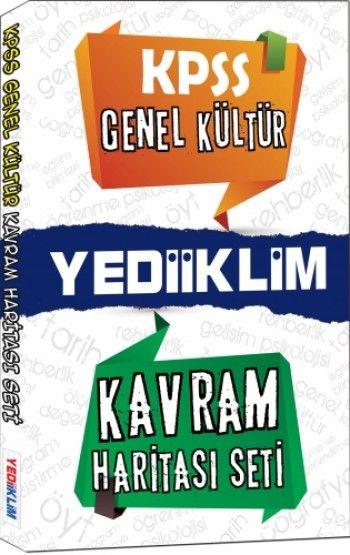 Yediiklim Yayınları KPSS Genel Kültür Kavram Haritası Seti