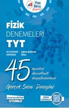Yeni Nesil Yayınları TYT Fizik 45 Deneme Sınavı