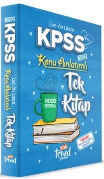 Yeni Trend 2022 KPSS Lise Ön Lisans Genel Yetenek Genel Kültür Konu Anlatımı Tek Kitap