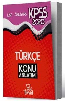 Yeni Trend Yayınları 2020 KPSS Lise Önlisans Gy Gk Türkçe Sözel Mantık Konu Anlatımı