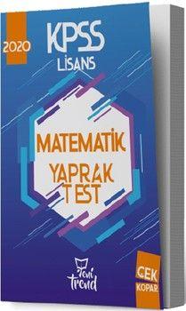 Yeni Trend Yayınları 2020 KPSS Matematik Yaprak Test