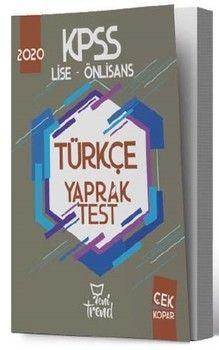 Yeni Trend Yayınları 2020 KPSS Lise Önlisans Gy Gk Türkçe Yaprak Test