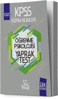 Yeni Trend Yayınları 2020 KPSS Eğitim Bilimleri Öğrenme Psikolojisi Yaprak Test