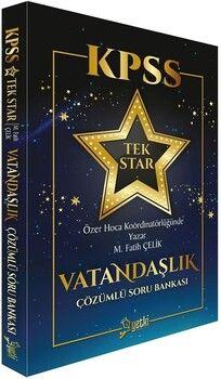 Yetki Yayınları KPSS Vatandaşlık Tek Star Soru Bankası Çözümlü