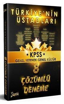 Yetki Yayınları KPSS Türkiye nin Üstadları Genel Yetenek Genel Kültür 8 Deneme Çözümlü