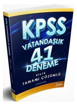 Yetki Yayınları KPSS Vatandaşlık 41 Deneme Çözümlü
