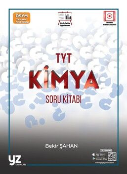 YZ Yayınları TYT Kimya Soru Kitabı