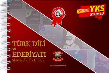Zafer Yayınları YKS 1. ve 2. Oturum TYT AYT Türk Dili ve Edebiyatı Şematik Özetler
