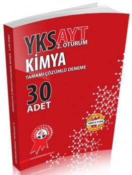 Zafer Yayınları YKS 2. Oturum AYT Kimya Tamamı Çözümlü 30 Deneme