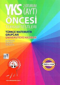Zafer Yayınları YKS 2. Oturum AYT Öncesi Türkçe Matematik Grupları Tekrar Testleri
