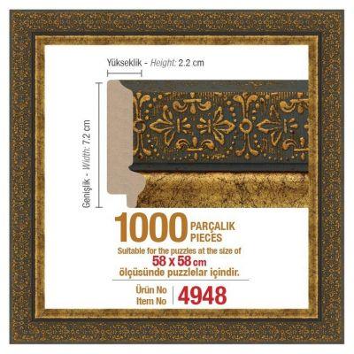 1000\'lik Kare 58 x 58 cm Puzzle Çerçevesi