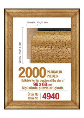 2000\'lik 96 x 68 cm Puzzle Çerçevesi