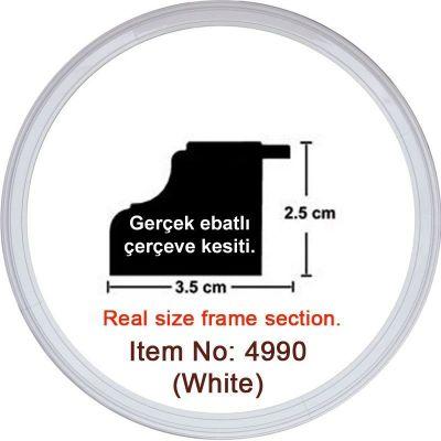3.5 cm Beyaz Saat Puzzle Çerçevesi