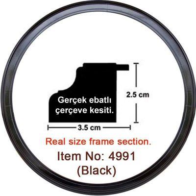 3.5 cm Siyah Saat Puzzle Çerçevesi