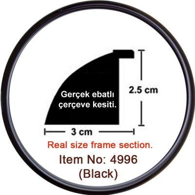 3 cm Siyah Saat Puzzle Çerçevesi
