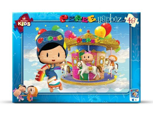 Art Çocuk Puzzle Pepee Lunaparkta 48 Parça