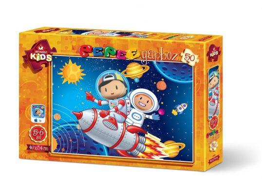 Art Çocuk Puzzle Pepee Uzay Keşfinde 50 Parça