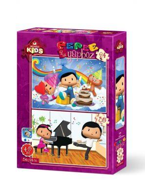 Art Çocuk Puzzle Pepee Doğum Gününü Kutluyor 24 + 35 Parça