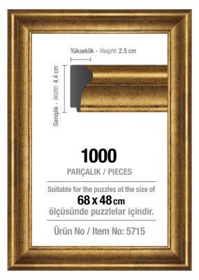 Art Puzzle 1000'lik Altın 68 x 48 cm Puzzle Çerçevesi (43 mm)