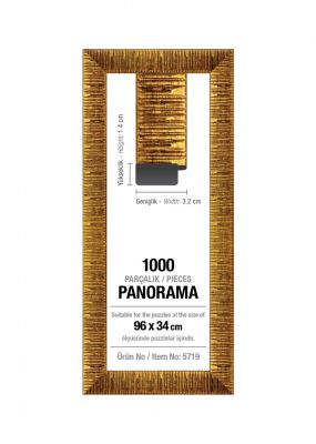 Art Puzzle 1000'lik Altın Panorama 96 x 34 cm Puzzle Çerçevesi (30 mm)