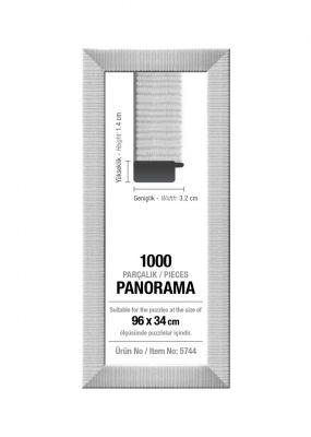 Art Puzzle 1000'lik Beyaz Panorama 96 x 34 cm Puzzle Çerçevesi (30 mm)