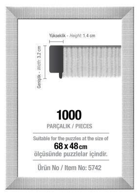 Art Puzzle 1000'lik Beyaz 68 x 48 cm Puzzle Çerçeve (30 mm)