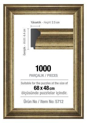 Art Puzzle 1000'lik Gümüş 68 x 48 cm Puzzle Çerçevesi (43 mm)