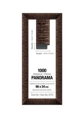 Art Puzzle 1000'lik Kahverengi Panorama 96 x 34 cm Puzzle Çerçevesi (30 mm)