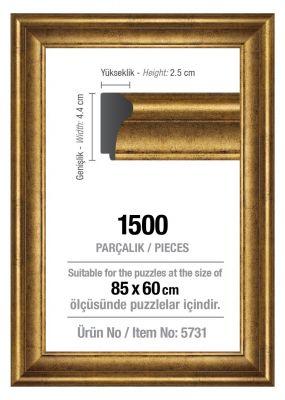 Art Puzzle 1500'lük Altın 85 x 60 cm Puzzle Çerçevesi (43 mm)
