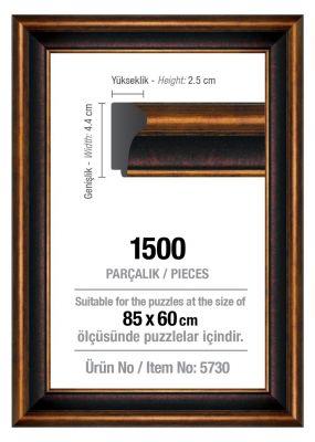 Art Puzzle 1500'lük Kahverengi 85 x 60 cm Puzzle Çerçevesi (43 mm)