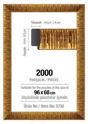 Art Puzzle 2000'lik Altın 96 x 68 cm Puzzle Çerçevesi (30 mm)