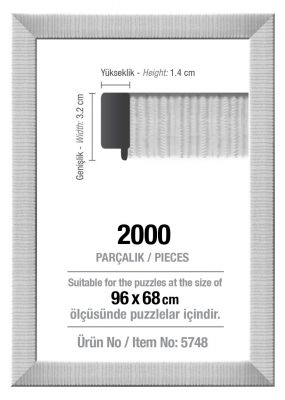 Art Puzzle 2000'lik Beyaz 96 x 68 cm Puzzle Çerçevesi (30 mm)