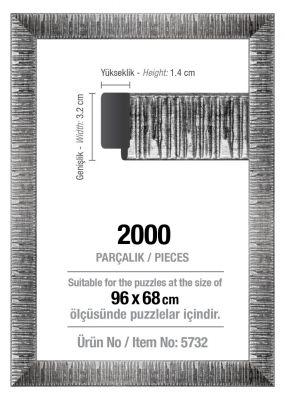 Art Puzzle 2000'lik Gümüş 96 x 68 cm Puzzle Çerçevesi (30 mm)