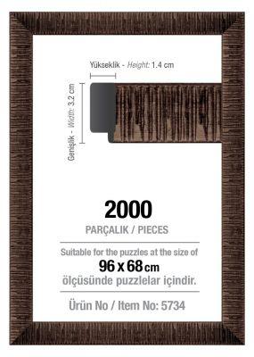 Art Puzzle 2000'lik Kahverengi 96 x 68 cm Puzzle Çerçevesi (30 mm)