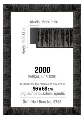 Art Puzzle 2000'lik Siyah 96 x 68 cm Puzzle Çerçevesi (30 mm)
