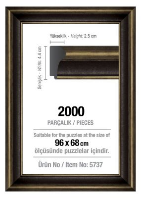Art Puzzle 2000'lik Siyah 96 x 68 cm Puzzle Çerçevesi (43 mm)